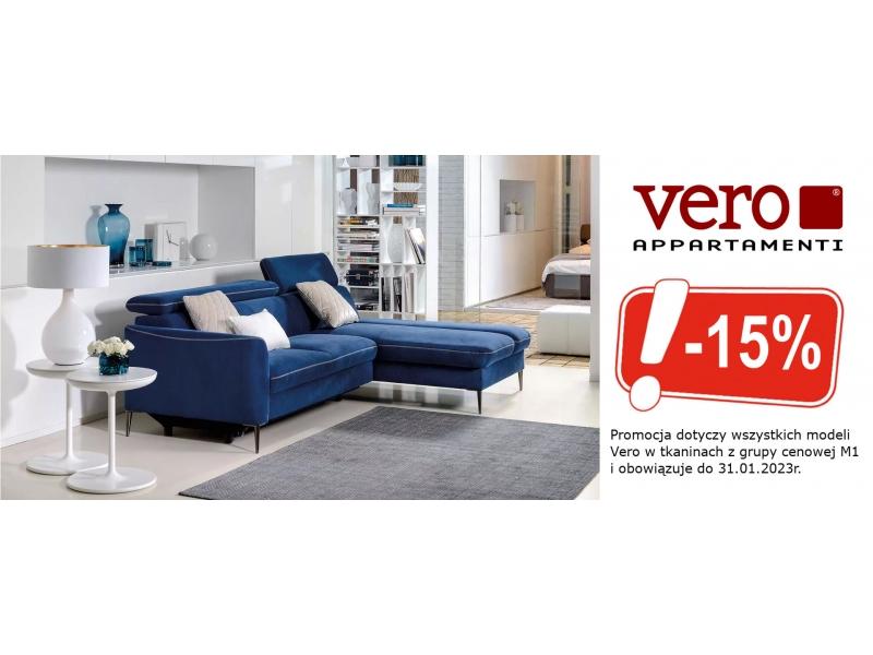 Rabat 20 na meble firmy Vero