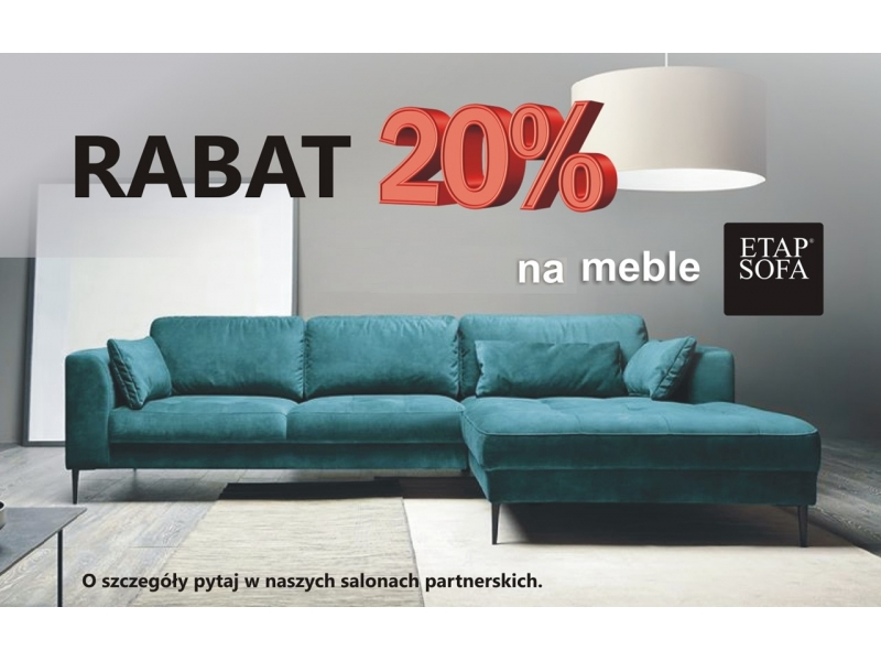rabat 20 procent na meble Etap Sofa
